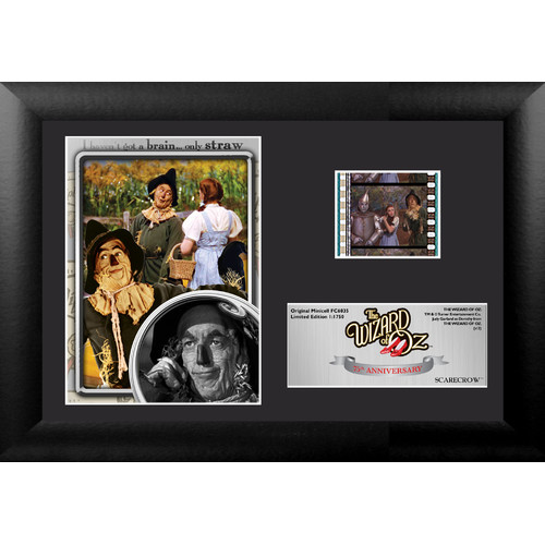 Trend Setters Wizard of Oz 75th Anniversary (Scarecrow) Mini FilmCell Presentation Framed Memorabilia