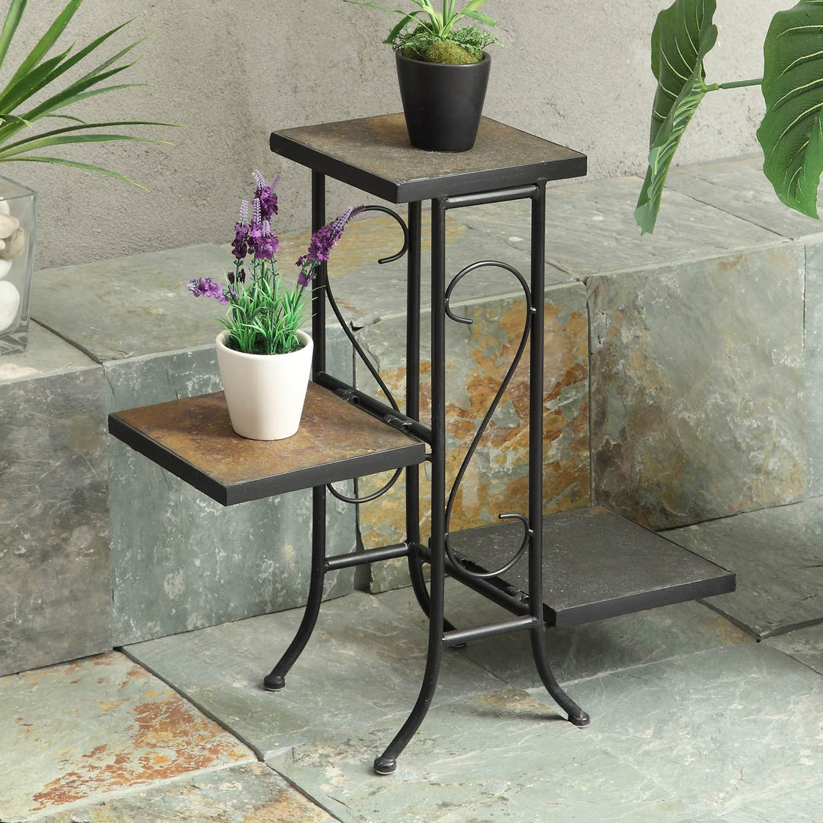 4D Concepts 3 Tier Slate Plant Stand by 4D Concepts
