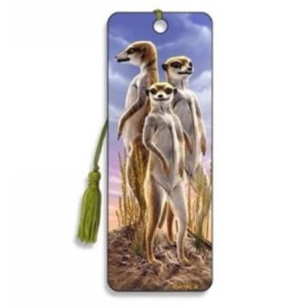 Meerkats Bookmark by Artgame - BK35MEE - 3d Bookmarks For Kids