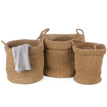 Pyper Marketing Llc Vivian 3 Piece Seagrass Basket Set