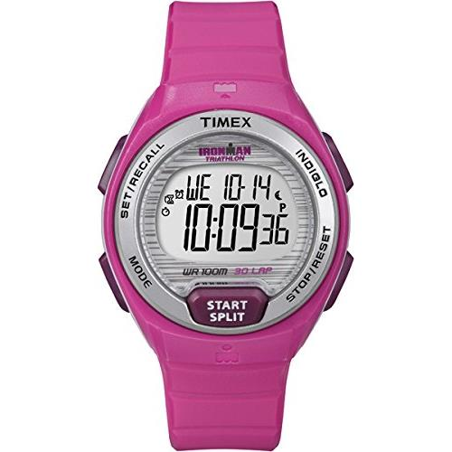 Timex Women's 39mm Pink Plastic Band & Case Quartz Grey D...