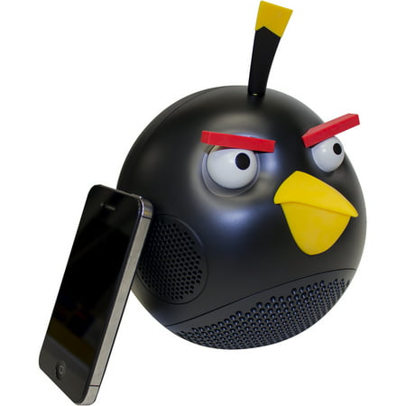 GEAR4 PG776G 30W Angry Birds Portable Speaker with Subwoofer and Bass Control, Black