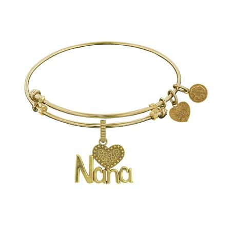 Angelica Collection Yellow Brass Nana Charm Bangle