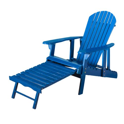 Denise Austin Home Katerina Outdoor Reclining Wood Adirondack Chair With Foot