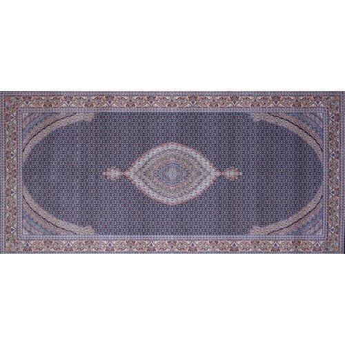 Astoria Grand Mcqueen Hand Look Persian Wool Blue/Brown Area Rug