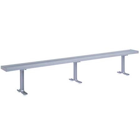 - LYON NF5827 Locker Room Bench, 3 Pedestals, 10 Ft