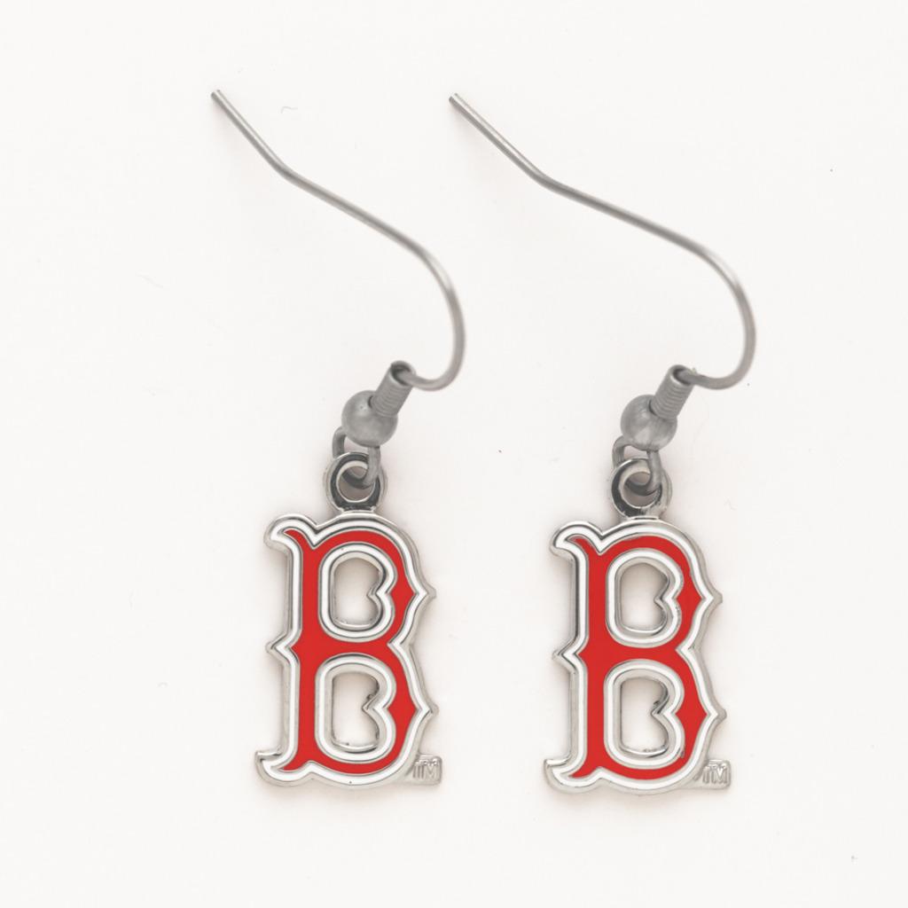 Boston Red Sox Dangle B Earrings