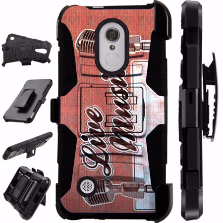 Compatible HMD Nokia 3.1 Plus | Feller Case Armor Hybrid Phone Cover LuxGuard Holster (Live (Nokia Best Music Phone)