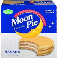 Moon Pie Double Decker Banana Marshmallow Sandwiches, 2.75 Oz., 12 Count