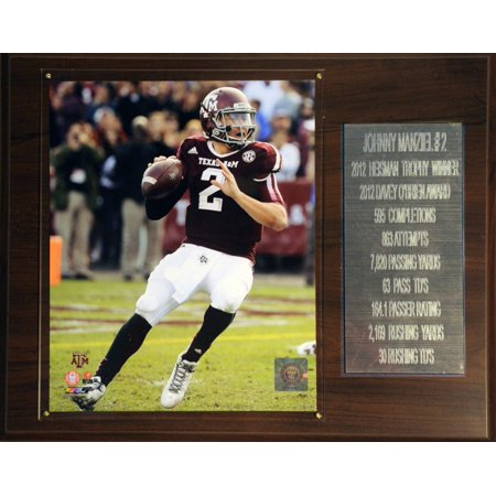 C&I Collectibles NCAA Football  Johnny Manziel Texas A&M Aggies Career Stat Plaque - Manziel Halloween