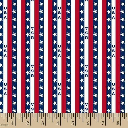 Patriotic U S A Stripe Fabric by the Yard ()