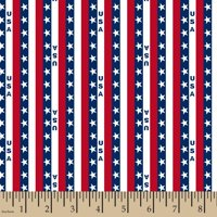 Patriotic U S A Stripe Fabric by the Yard