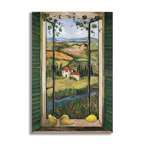 Stupell Industries Countryside Faux Window Scene Painting Print Plaque