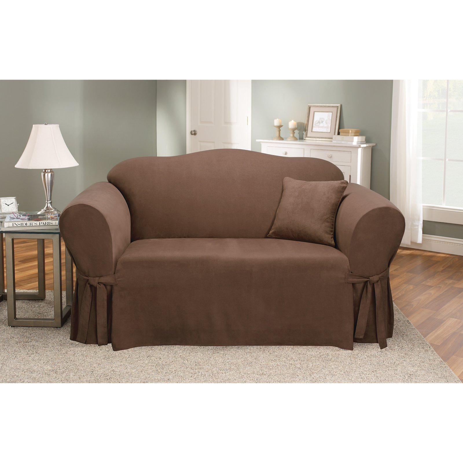 Sure Fit Soft Suede Sofa Slipcover Walmart