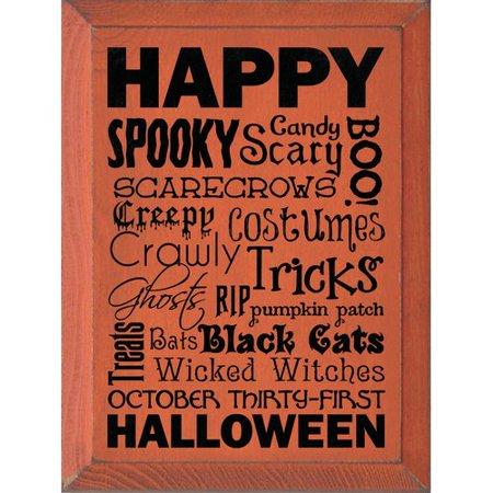 Halloween City Hiring (Sawdust City Happy Halloween Wordle Textual Art)