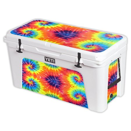 MightySkins Skin For YETI 110 qt Cooler Lid, 125 160 75 105 | Protective, Durable, and Unique Vinyl Decal wrap cover Easy To Apply, Remove, Change Styles Made in the (Skin Cooler Tri Jersey)