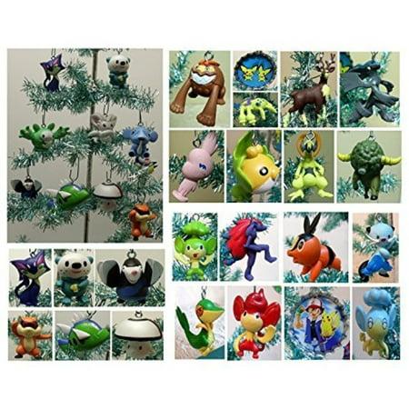 Pokemon Christmas Ornaments.Pokemon Random 10 Piece Mini Holiday Christmas Ornament Set