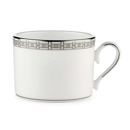 Timeless Bone China Platinum Banded Cup, Crafted of Lenox white porcelain accented with precious platinum By Lenox