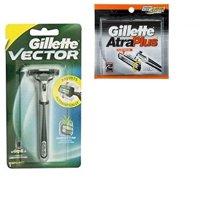 Vector Plus Razor Handle + Atra Plus Refill Razor Blades 10 ct