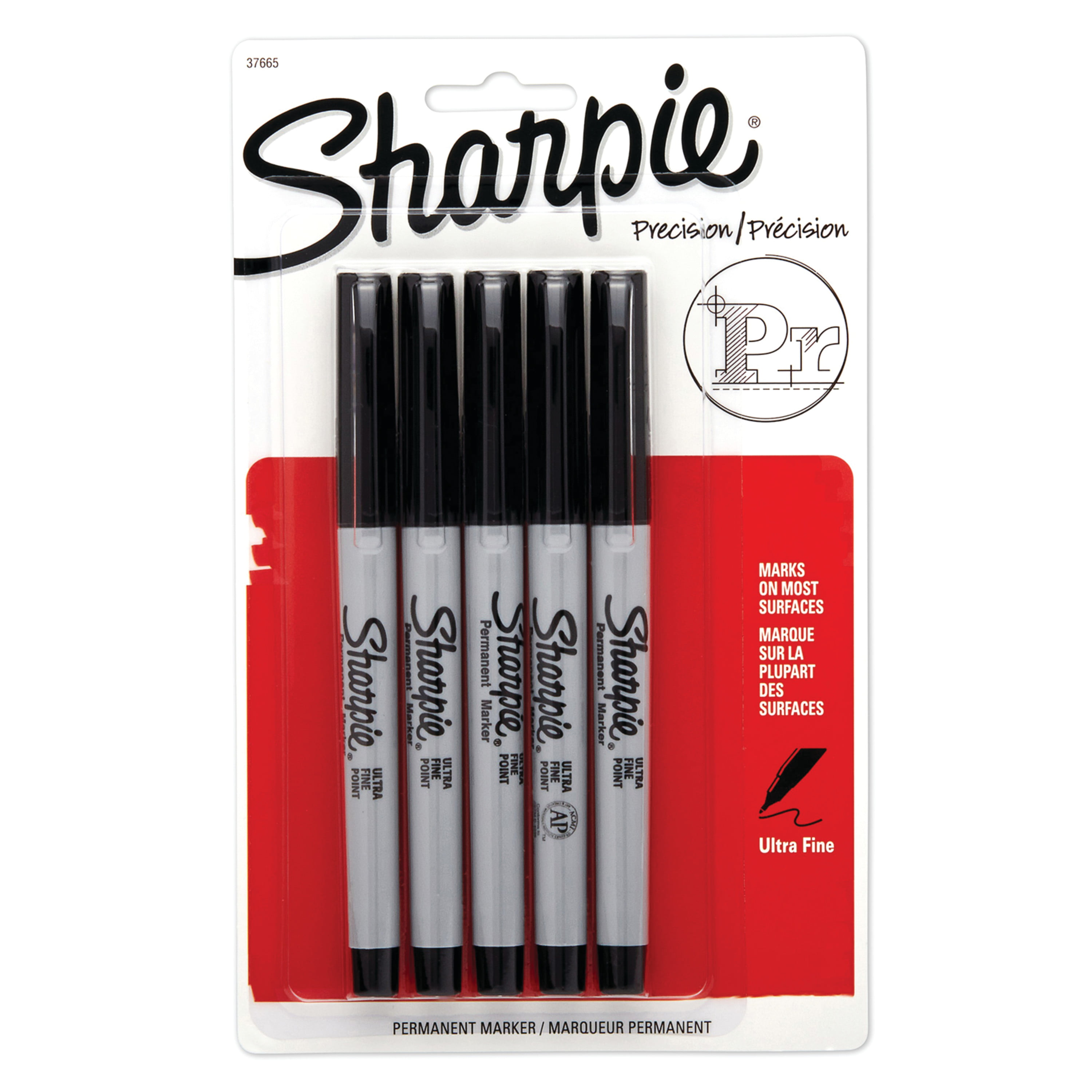 NEW BLACK 3 PACK PERMANENT MARKERS ** GREAT QUALITY /& VALUE