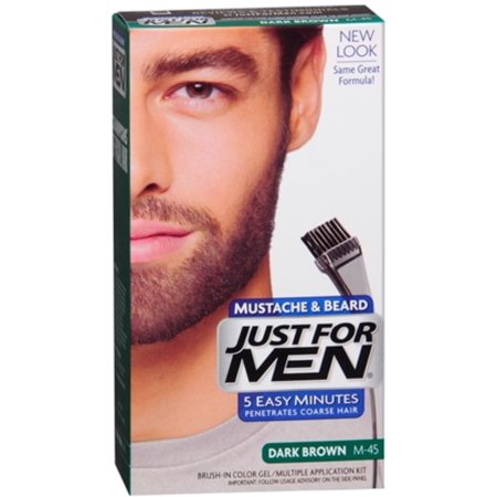 JUST FOR MEN Color Gel Mustache & Beard M-45, Dark Brown 1 Each ...