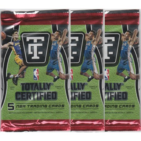 ((3) 2017-18 Totally Certified Basketball Hobby Packs -Possible Autographs)