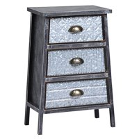 Three Drawers Metal Chest