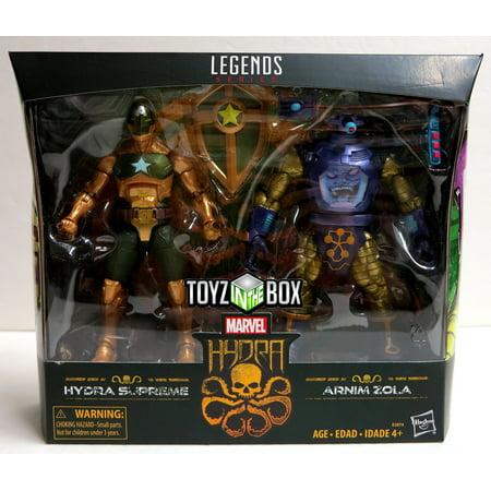 Supreme Legends Grips (Marvel Legends Arnim Zola and Supreme Captain America Action Figure 2 Pack )