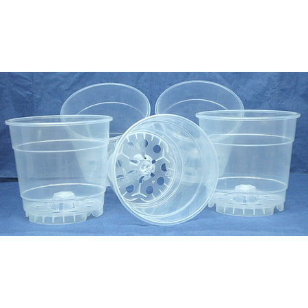 Clear Plastic Teku Pot for Orchids 4 1/2 inch Diameter - Quantity