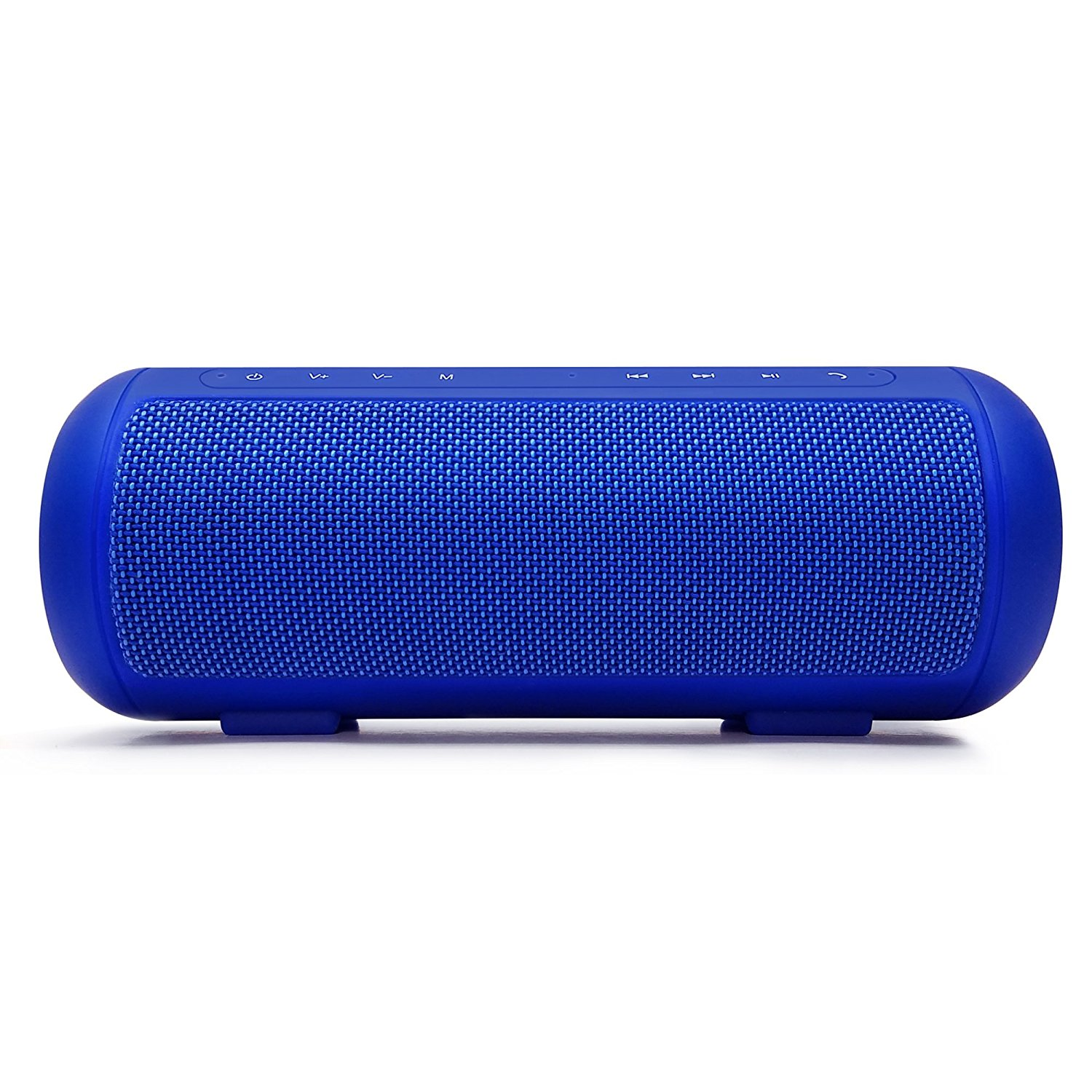 Photive Cobalt Portable Wireless Bluetooth Speaker 10W Bluetooth Power with Passive Subwoofers