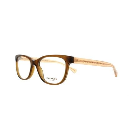 19c0478c94 COACH - COACH Eyeglasses HC6072 5328 Brown Glitter Crystal Brown 50MM -  Walmart.com