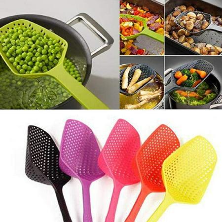 Kitchen High Temperature Resistance Large Scoop Colander Pasta Heat Resistant Nylon Strainer Big Spoon