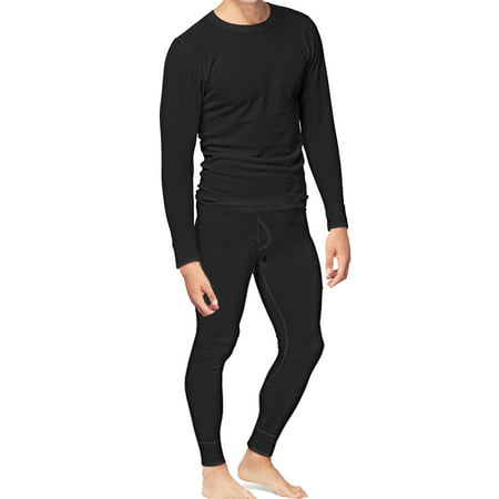Place and Street Mens 2pc Thermal Underwear Set Cotton Long Johns Long John Pjs