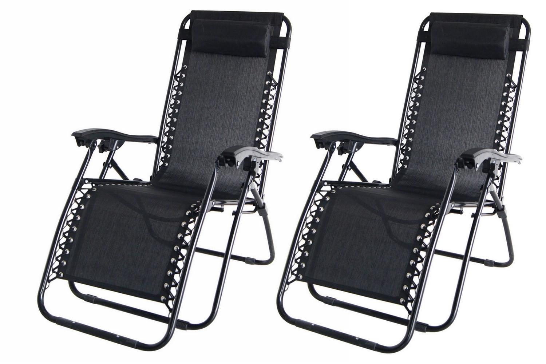 Patio gravity chair - 2x Palm Springs Zero Gravity Chairs Lounge Outdoor Yard Patio Chairs Beach Black Walmart Com
