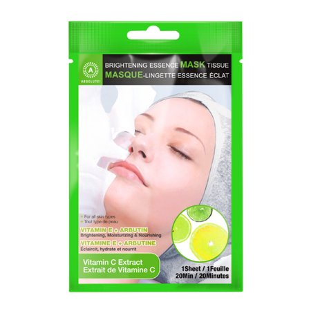 (6 Pack) ABSOLUTE Brightening Essence Mask - Vitamin C