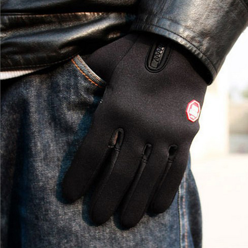 Redcolourful Unisex Winter Warm Cold Weather Outdoor Cycling Driving Windproof Fleece Gloves Black L by