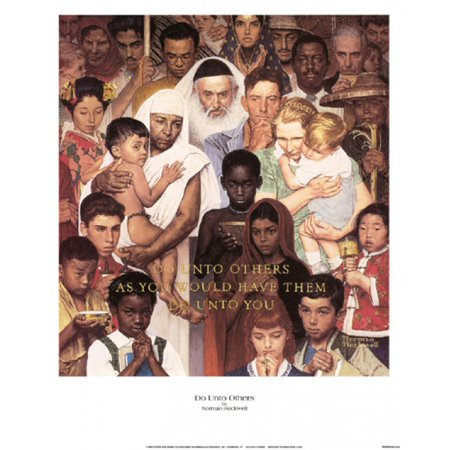 15 Poster Print - Do Unto Others Poster Print by Norman Rockwell (12 x 15)