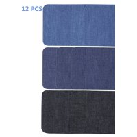12PCS Iron On Patches, Denim Patches for Jeans, Jean patches, Clothes Patch
