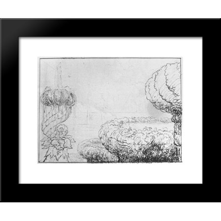 - Pen and pencil drawing 20x24 Framed Art Print by Thomas Cole