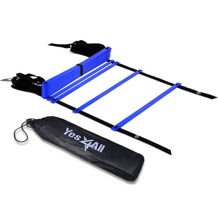 Yes4All Speed and Agility Training Ladder with Carry Bag - 12 Rung (Blue)