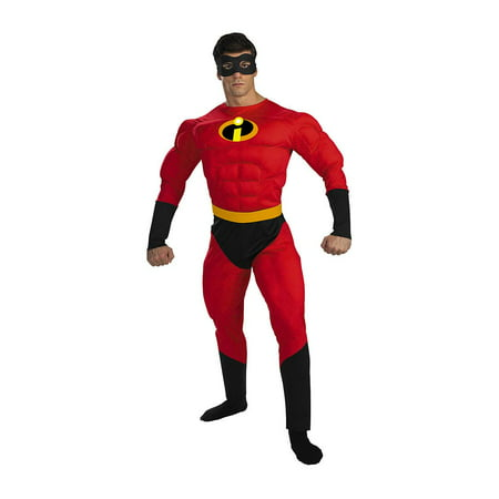 Mens' Mr. Incredible Deluxe Muscle Adult Costume - Men Adult Costumes