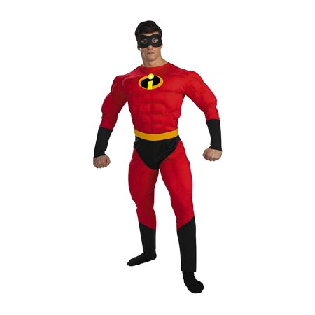 Mens' mr. incredible deluxe muscle adult costume Xl - Mr Incredible Costumes
