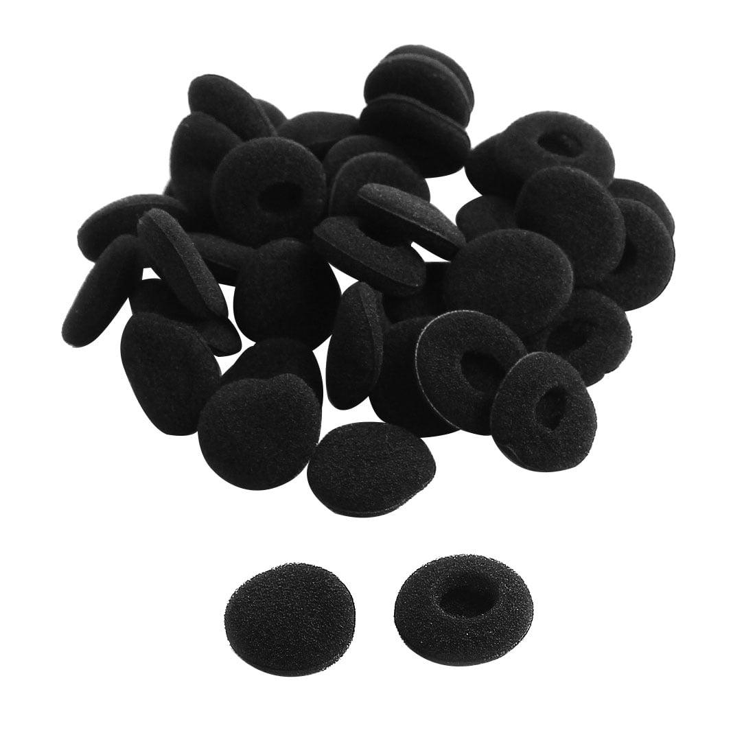 Sponge Noise Isolating Earphone Pad Earbud Cap Tip Cover Replacement Black 38 Pcs