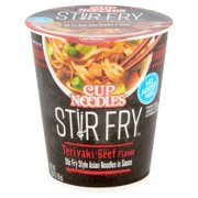 Nissin Cup Noodles Stir Fry Teriyaki Beef Flavor Noodles, 3.00 oz