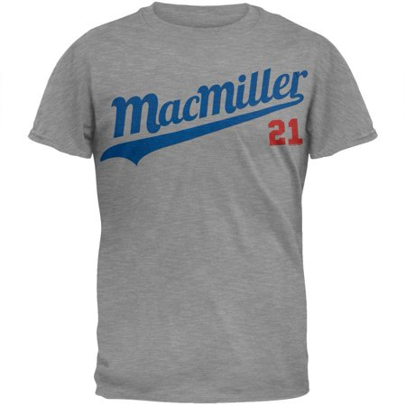 Mac Miller - 21 Baseball Script Soft T-Shirt - (Miller Signed Baseball)