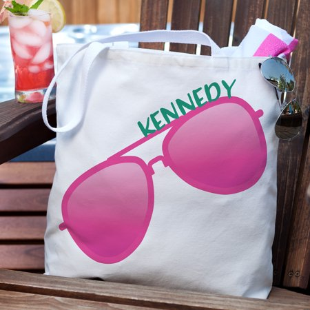 Personalized Sunglasses Summer Tote Bag