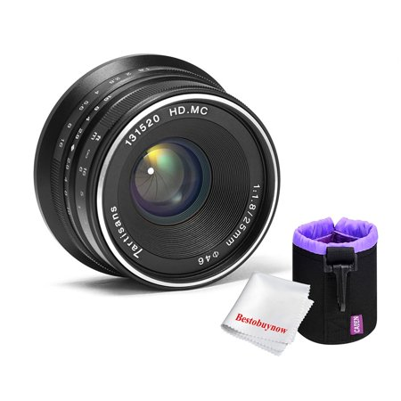7artisans 25mm f1.8 Large Aperture Manual Focus Lens for Sony E-Mount Cameras A7 A7II A7R A7RII A7S A7SII A6500 A6300 A6000 A5100 A5000