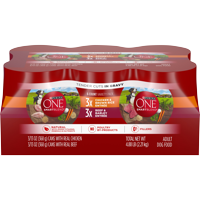 Purina ONE Natural, High Protein Gravy Wet Dog Food Variety Pack, SmartBlend Tender Cuts in Gravy - (12) 13 oz. Cans