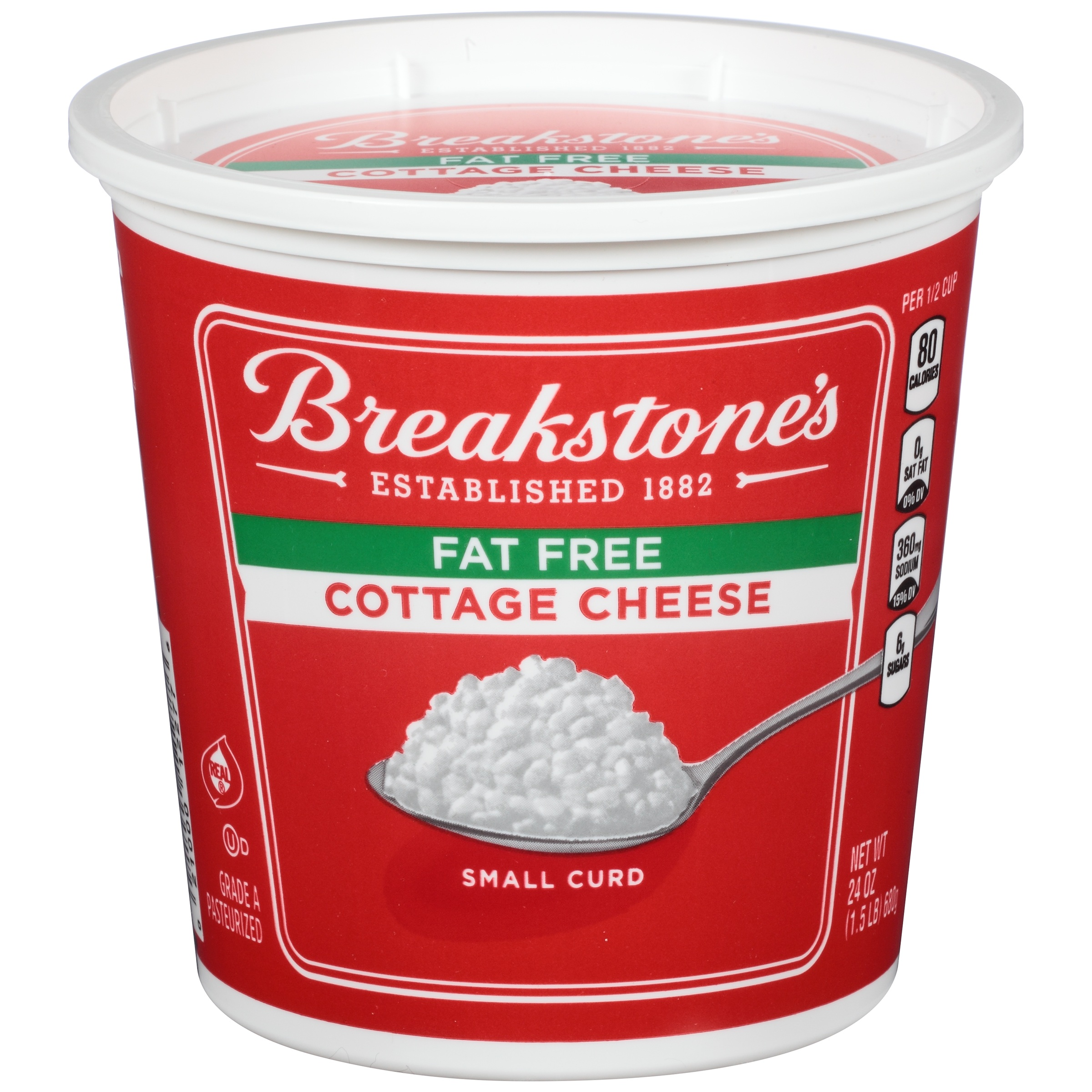 breakstone s small curd fat free cottage cheese 24 oz walmart com rh walmart com fat free cottage cheese benefits fat free cottage cheese nutrition