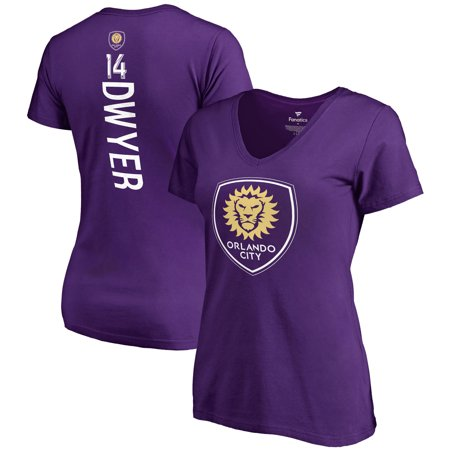Dom Dwyer Orlando City SC Fanatics Branded Women's Backer Name & Number V-Neck T-Shirt - Purple](City Walk Halloween Orlando)